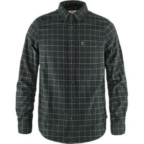 Fjällräven Övik Camisa Franela Hombre, dark grey